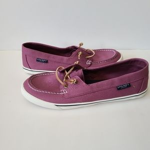 Sperry Mauve Loafers Size 12